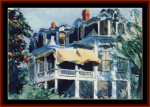 The Mansard Roof - Hopper cross stitch pattern by Cross Stitch Collectibles | Crafting | Cross-Stitch | Wall Hangings