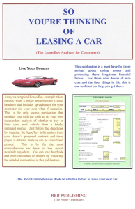 So You're Thinking of Leasing a Car | eBooks | Automotive
