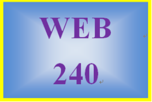 WEB 240 Week 4 Individual: Refine and Finalize Website | eBooks | Education