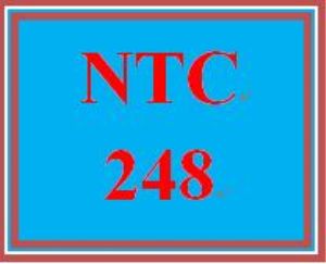 NTC 248 Week 1 Individual: IP Configuration, Routing, and Network Customization   eBooks   Education