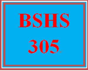 BSHS 305 Week 5 Final Exam | eBooks | Education