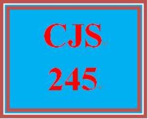 cjs 245 week 1 juvenile justice system paper