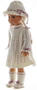 dollknittingpattern model 0166d lolita - dress, pants, hat and socks-(english)