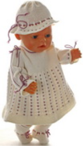 dollknittingpatterns modell 0166d lolita - dress, pants, hat and socks-(deutsch)