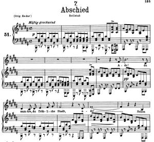 Abschied D.957-7, Low Voice in B Major. F. Schubert | eBooks | Sheet Music