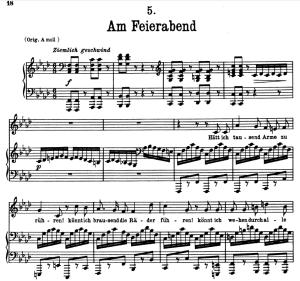 Am Feierabend D.795-5, Low Voice in F minor, F. Schubert (Die Schöne Müllerin), Pet | eBooks | Sheet Music