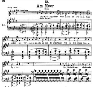 Am Meer D.957-12, Low Voice in A Major, F. Schubert | eBooks | Sheet Music
