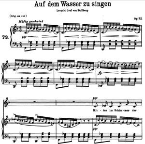 Auf dem wasser zu singen D.774, Low Voice in F Major, F. Schubert | eBooks | Sheet Music