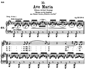 Ave Maria D.839, Low Voice in G Major, F. Schubert. In German. A4 (Portrait). | eBooks | Sheet Music
