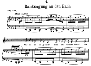 Danksagung an den Bach, D.795-4, Low Voice in E Flat Major, F. Schubert (Die Schöne Müllerin), Pet | eBooks | Sheet Music