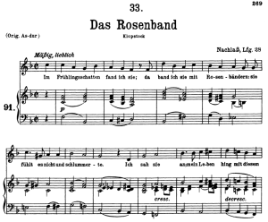 Das Rosenband, D.280, Low Voice in F Major, F. Schubert | eBooks | Sheet Music