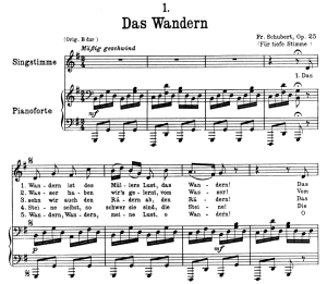 Das Wandern, D.795-1, Low Voice in G Major, F. Schubert (Die Schöne Müllerin), Pet | eBooks | Sheet Music