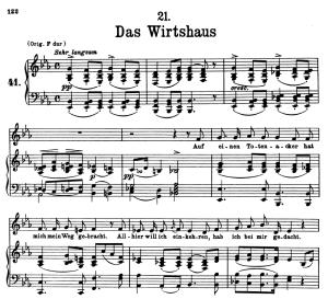 Das Wirthaus, D.911-21, Low Voice in E Flat Major, F. Schubert | eBooks | Sheet Music