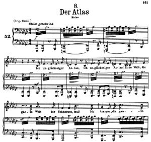 Der Atlas, D.957-8, Low Voice in E Flat Minor, F. Schubert | eBooks | Sheet Music