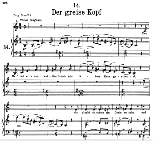 Der greise Kopf, D.911-14, Low Voice in A Minor, F. Schubert | eBooks | Sheet Music