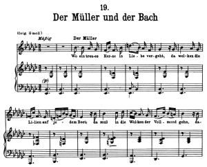 Der Müller und der Bach, D.795-19 , Low Voice in E-Flat minor, F. Schuber (Die Schöne Müllerin), Pett | eBooks | Sheet Music
