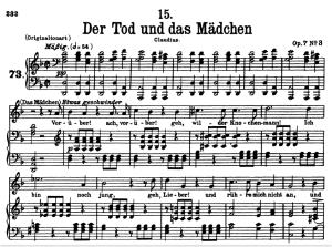 Der Tod und das Mädchen, D.774 , Low Voice in D minor, F. Schubert. | eBooks | Sheet Music