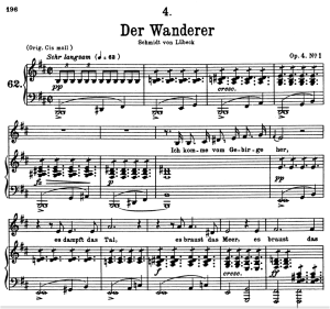 Der Wanderer, D.493 , Low Voice in B minor, F. Schubert | eBooks | Sheet Music