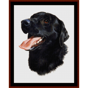 black labrador (new edition) cross stitch pattern by cross stitch collectibles