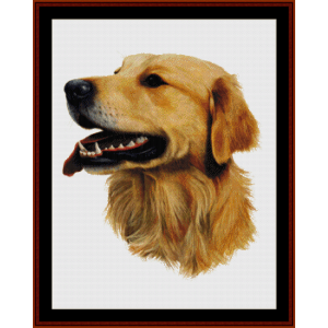 Golden Retriever (New Edition) cross stitch pattern by Cross Stitch Collectibles | Crafting | Cross-Stitch | Wall Hangings