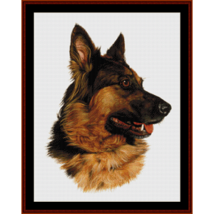 German Shepherd (New Edition) cross stitch pattern by Cross Stitch Collectibles | Crafting | Cross-Stitch | Wall Hangings