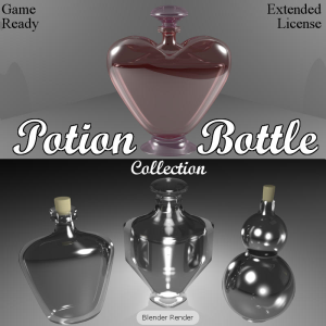 POTION BOTTLES for Game Dev (BLEND, DAE, FBX, OBJ) | Software | Games