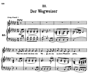 Der Wegweiser, D.911-20 , Low Voice in E-Flat minor, F. Schubert | eBooks | Sheet Music