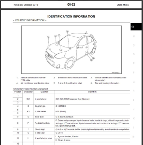 nissan micra k13 2016 service & repair manual & wiring diagram