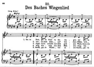 Des Baches Wiegenlied, D.795-20 , Low Voice in B-Flat Major, F. Schubert (Die Schöne Müllerin), Pet | eBooks | Sheet Music