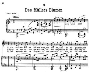 Des Müller's Blumen, D.795-9, Low Voice in F Major, F. Schubert (Die Schöne Müllerin), Pet | eBooks | Sheet Music