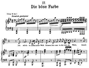 Die böse farbe, D.795-10, Low Voice in G Major, F. Schubert (Die Schöne Müllerin), Pet | eBooks | Sheet Music