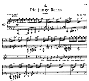 die junge nonne, d.828, low voice in d minor, f. schubert
