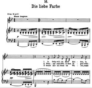 Die Liebe Farbe, D.795-16, Low Voice in G minor, F. Schubert (Die Schöne Müllerin), Pet | eBooks | Sheet Music
