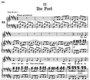 Die Post, D.911-13, Low Voice in C Major, F. Schubert | eBooks | Sheet Music