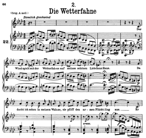 Die Wetterfahne, D.911-2, Low Voice in F minor, F. Schubert | eBooks | Sheet Music