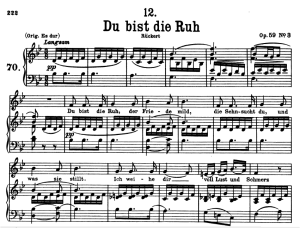 du bist die ruh, d.776, low voice in b-flat major, f. schubert