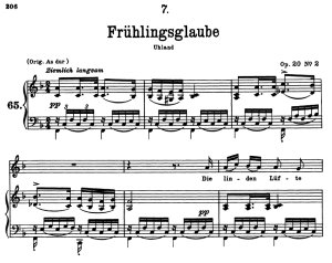Frühlingsglaube D.686, Low Voice in G Major, F. Schubert | eBooks | Sheet Music