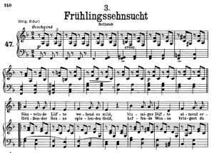 Frühlingssehnsucht D.957-3, Low Voice in F Major, F. Schubert | eBooks | Sheet Music
