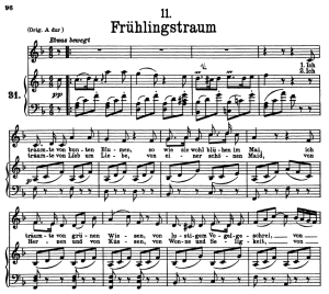 frühlingstraum d.911-11, low voice in f major