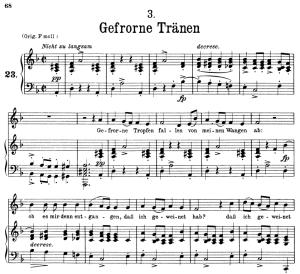 Gefrorne Tränen D.911-3, Low Voice in D minor, F. Schubert | eBooks | Sheet Music