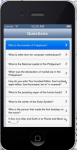 question and answer app - ios 6