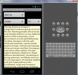 Read Text Files with Fonts in Android | Software | Utilities
