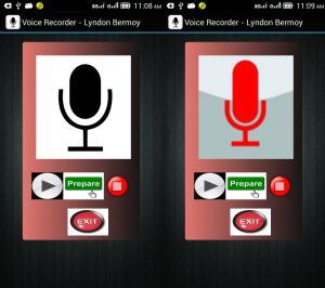 voice recorder application in android