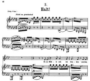 Halt! D.795-3, Low Voice in A-Flat Major, F. Schubert | eBooks | Sheet Music