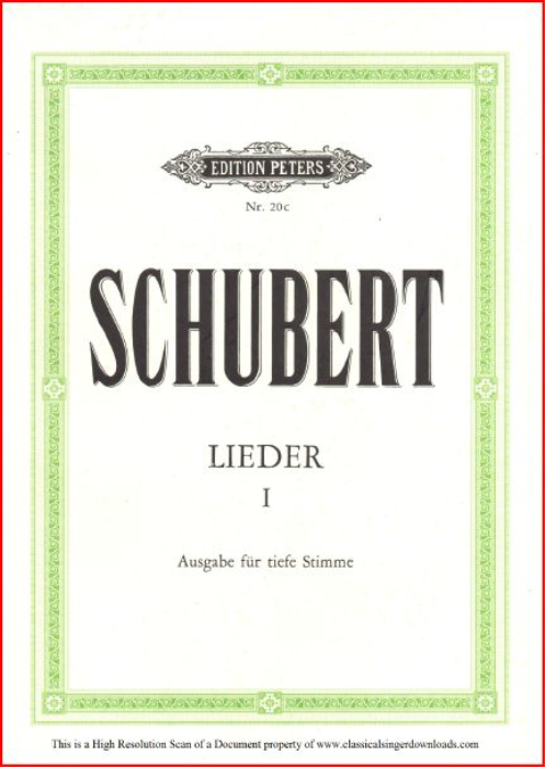 First Additional product image for - Jägers Liebeslied D.909, Low Voice in C Major, F. Schubert