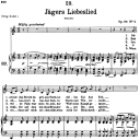 Jägers Liebeslied D.909, Low Voice in C Major, F. Schubert | eBooks | Sheet Music