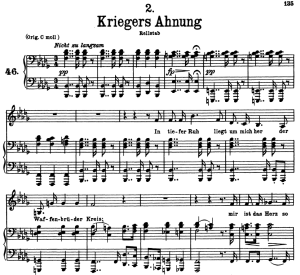 Kriegers Ahnung D.957-2, Low Voice in B-Flat minor, F. Schubert | eBooks | Sheet Music