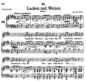 Lachen und Weinen D.777, Low Voice in E Major, F. Schubert | eBooks | Sheet Music
