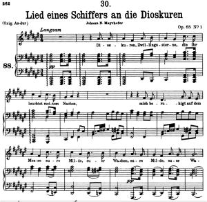 Lied eines Schiffers an die Dioskuren D.360, Low Voice in F-Sharp Major, F. Schubert | eBooks | Sheet Music
