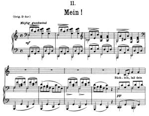 mein! d.795-11, low voice in c major, f. schubert (die schöne müllerin), pet